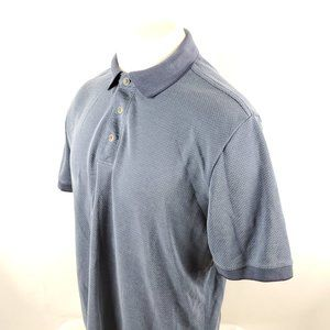 Tommy Bahama Men Polo Shirt Medium S/S Blue Modal